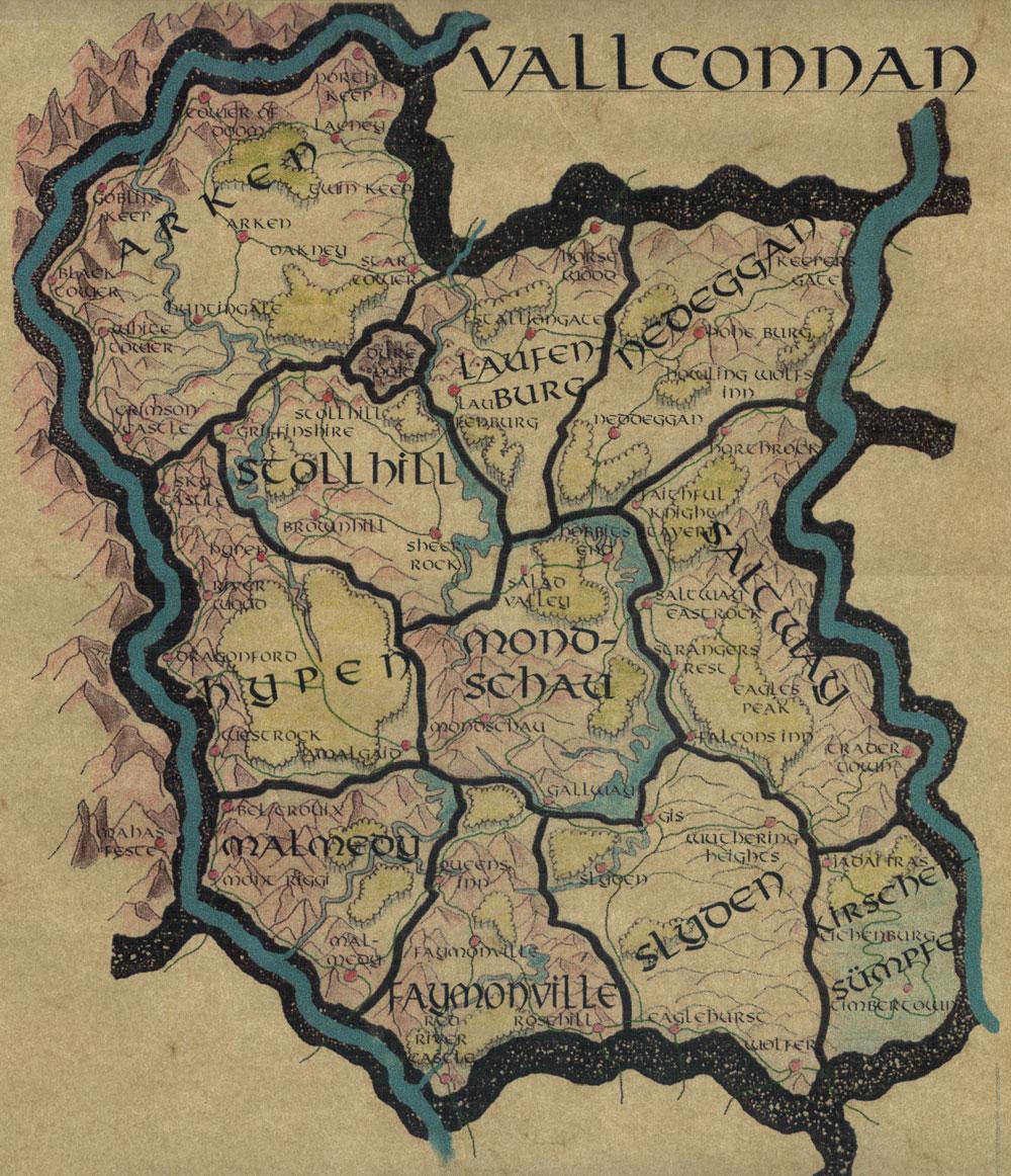 Landkarte von Vallconnan